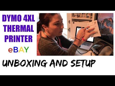 eBay and Poshmark Thermal Label Printer Unboxing & Setup - Dymo 4XL