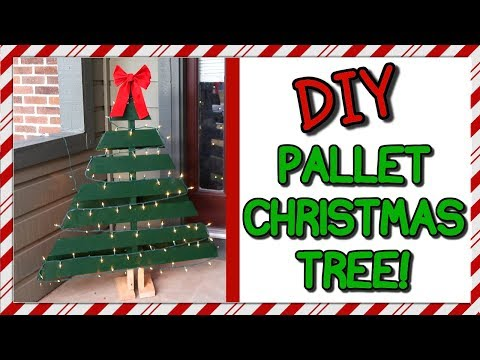 How To Make A Pallet Christmas Tree | I Am Kristin📍