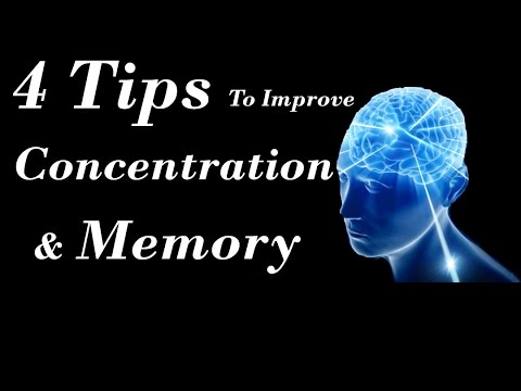 4 Tips To Improve Concentration & Memory  For Students !