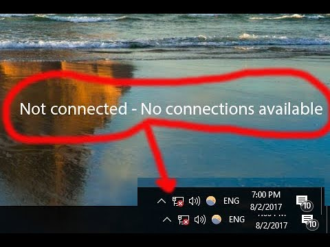 Windows 10 Wireless Problem (Not connected - No connections are available fixed)
