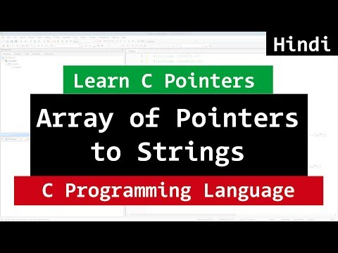 Array of Pointers to Strings in C Programming Language | Video Tutorial in Hindi