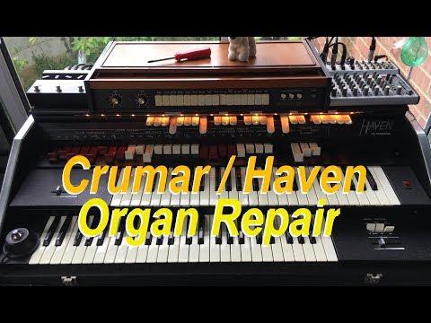Crumar Haven vintage Organ Fix repair.