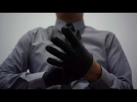 Shirt and Tie and Leather Gloves