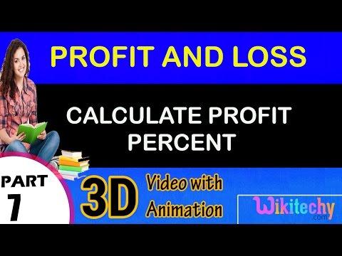 Calculate Profit Percent maths class 5 6 7 8 9 10 trick shortcuts online videos cbse ncert