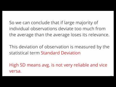 Measures of Risk: Standard Deviation