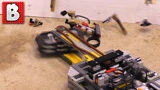 Lego Battlebot Destroys Lego Sets Round 2 ! Ultimate Lego Destruction !!!