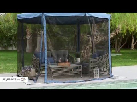 Coral Coast 11 ft. Steel Offset Patio Umbrella with Detachable Netting - Product Review Video