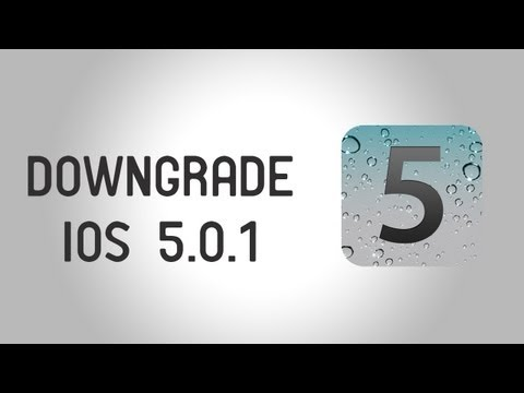 How to Downgrade iPhone 4S/iPad 2 on 5.0.1 using RedSn0w
