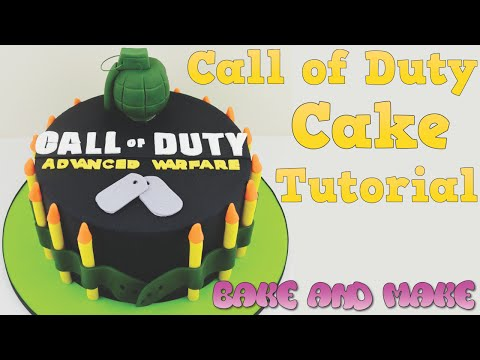 How to make a Call of Duty cake tutorial. Bake and Make with Angela Capeski