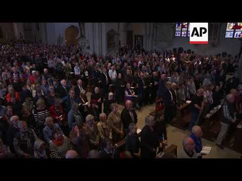 Memorial service at Muenster cathedral  after man crashed van into crowd