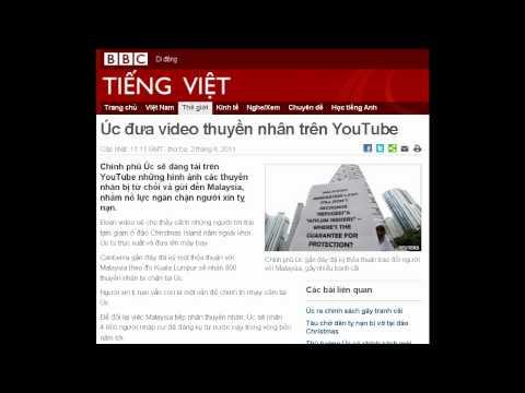 02-08-2011 - BBC Vietnamese - Úc đưa video thuyền nhân trên YouTube