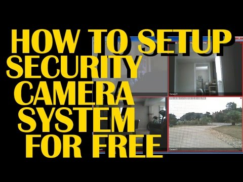 how to setup video surveillance security camera system with free software ispy
