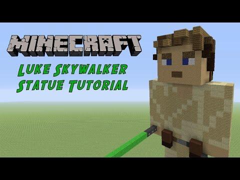 Minecraft Statue Tutorial: Luke Skywalker (Star Wars)