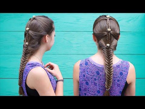 Fishtail Mermaid Braid Hair Tutorial ft. Brooklyn & Kamri | Cute Girls Hairstyles