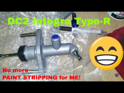 FINALLY!! The Integra Type R clutch master cylinder install.