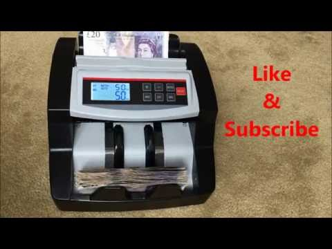 Bank Note Currency Counter / Cash Money Notes Counting Machine / Cash Handling Fake Note Detector