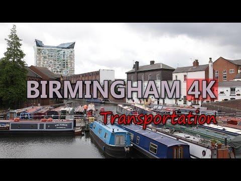 Ultra HD 4K Birmingham England Travel Vehicles Transportation Boat Bus Train UHD Video Stock Footage
