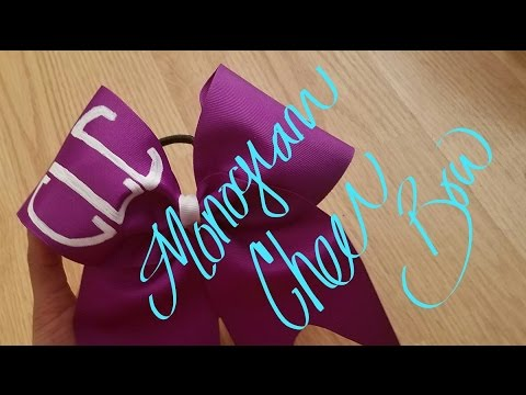 How to make a Monogram Cheer Bow