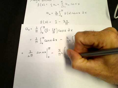 Fourier series of a triangle function