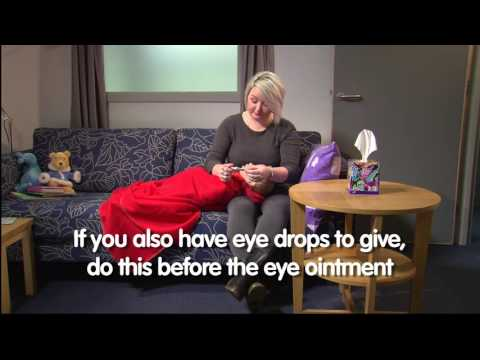 How to apply eye ointment