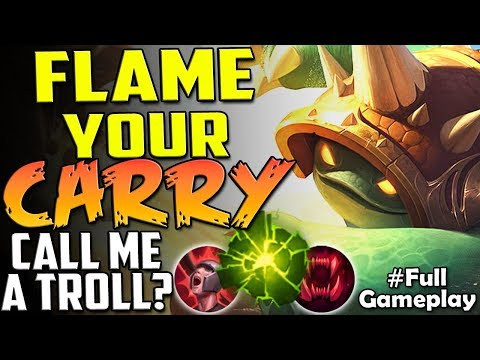 FLAME YOUR CARRY | CALL ME A TROLL? | New Runes Rammus vs Camille TOP | RANKED SEASON 8 Gameplay