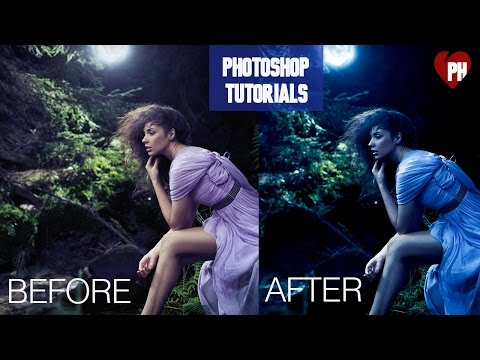 🔴 Photoshop Tutorial | Day to Night Photoshop effect