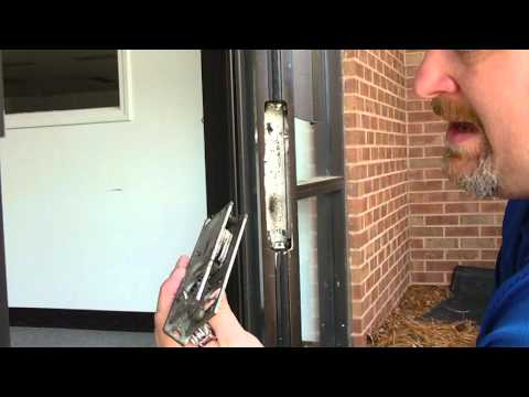 How to remove and re-install an Adams Rite Deadbolt Hook storefront lock