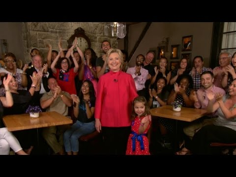Hillary Clinton appears in video at DNC