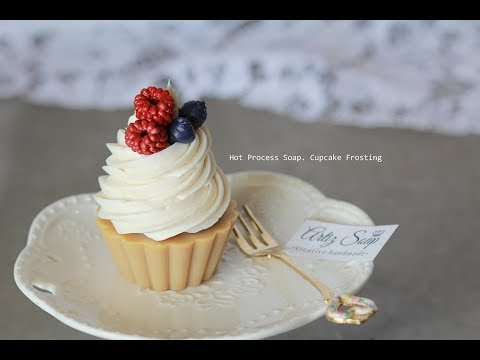 Hot Process Soap Cream Cupcake Frosting