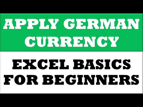 How to Change Value to German Currency Format in MS Excel 2016