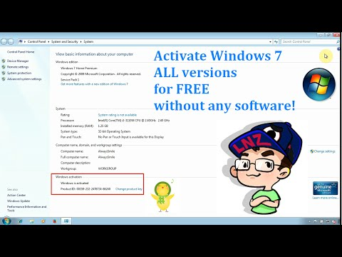 Activate Windows 7 ALL versions for FREE without any software Permanently ✔