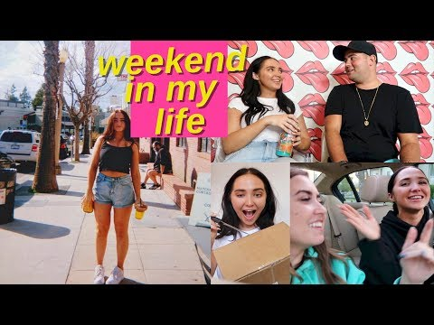 weekend in my life   unboxing PR packages, working out, room updates