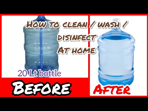 Without Brush | How to wash/clean/disinfect water bottle at home easily|How to wash Plastic bottles