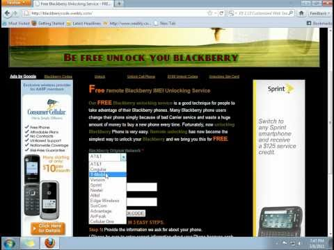 How to get free blackberry Unlock codes