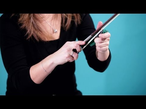 How to Prepare a Bow   Violin Lessons