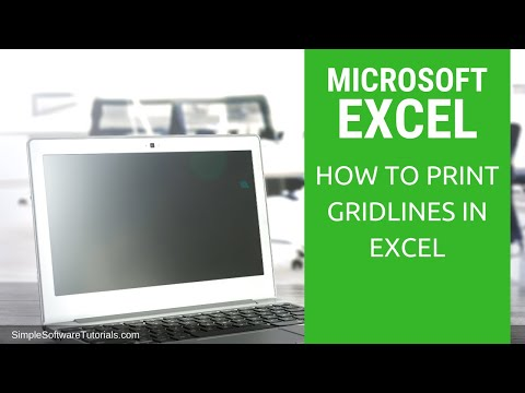 Tutorial: How to Print Gridlines in Excel 2016
