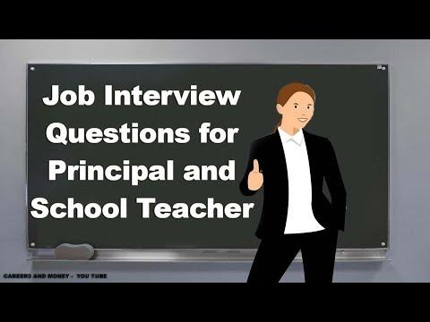 Job Interview Questions for Principal and School Teacher