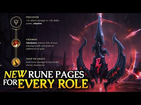 Best New PRESEASON Rune Pages to start with for EVERY ROLE in 7.22 (League of Legends)