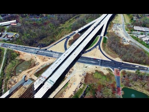 Latest Aerial Views of the Northwest Section of I-840 Urban Loop Construction - Greensboro, NC