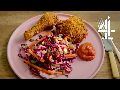 Healthy Southern (Fried) Chicken: No Breadcrumbs, No Frying | Eating Well with Hemsley + Hemsley