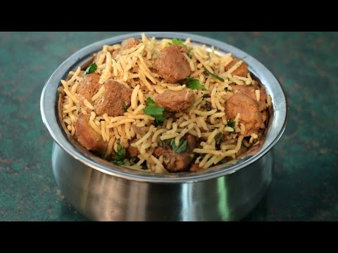 How To Make Soya chunks pulav/Meal maker pulav recipe