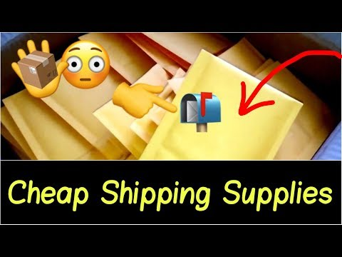 📩 Best Cheap Shipping Supplies for Online Business $0.07 Bubble Mailers for USPS, UPS, Fedex, DHL...