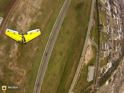 Flying Wing FPV: looping, fast low passes / Asa Zagi 1,20m: looping e passagem baixa