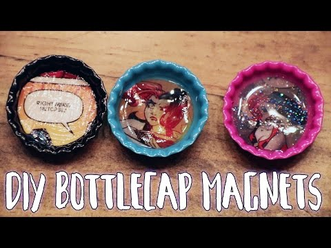 HOW TO: Bottle Cap Magnets | DIY