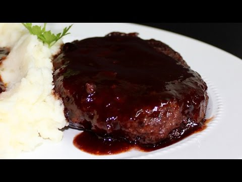 Hamburger Steaks in Red Wine Sauce with Michael's Home Cooking