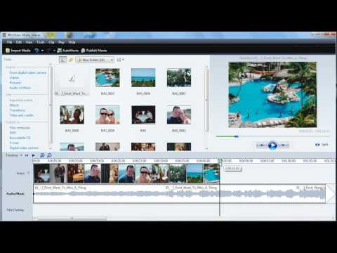 How to add audio into Windows Movie Maker