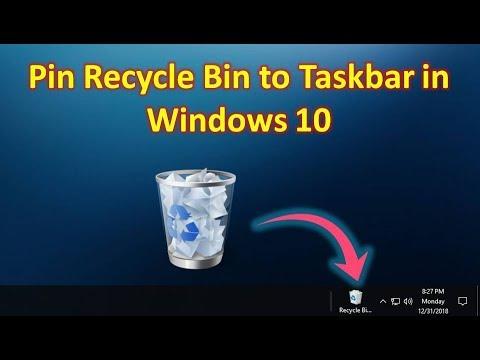 How to Pin Recycle Bin to Taskbar in Windows 10 in Hindi/Urdu