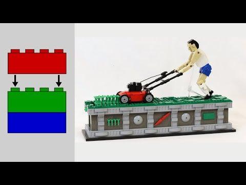 Building the LEGO Lawn Mower Man