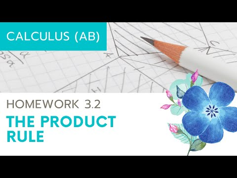 Calculus AB Homework 3.3 The Product Rule