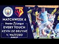 Every Touch From Kevin De Bruynes Historic Performance In 8 0 Win V Watford NBC Sports